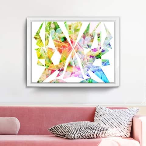 Ready2HangArt 'Spectrum Prism' Framed Succulent Canvas Wall Art
