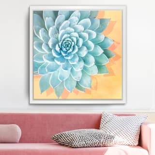 Ready2HangArt 'Awaken III' Framed Succulent Canvas Wall Art - Green/Orange/White