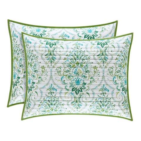 Porch & Den Aebischer Teal Quilted Pillow Sham