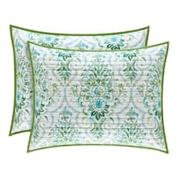 Five Queens Court Kinsley Teal Quilted Pillow Sham