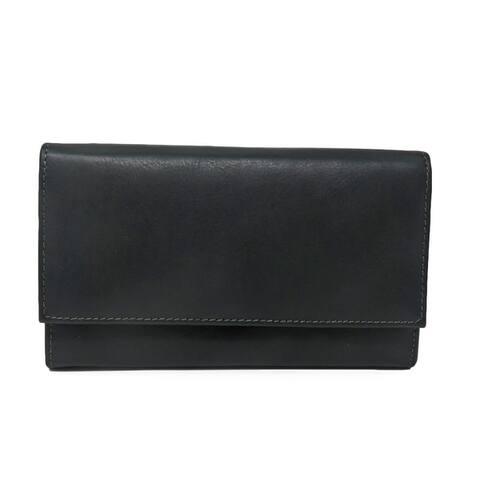 AFONiE Leather RFID Women Wallet