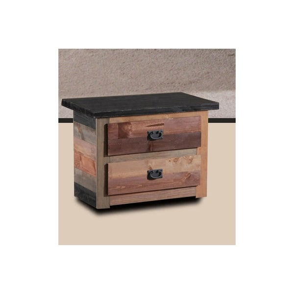 Multi-color 2-drawer Nightstand
