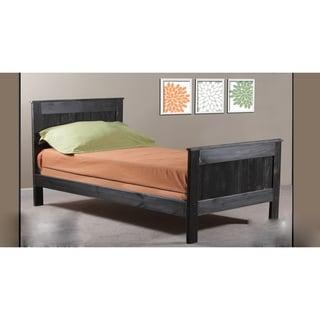 Black Distressed Full Mates Bed