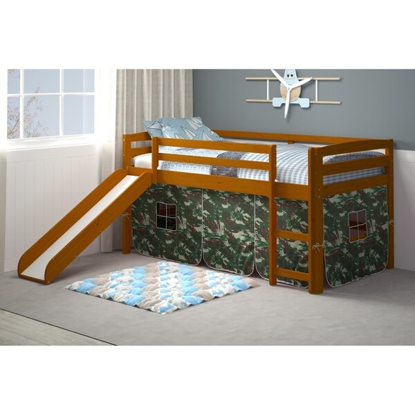 Shop Honey Tent Bed With Slide Free Shipping Today