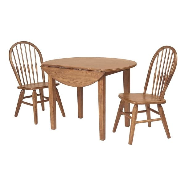Remarkable Fruitwood Drop Leaf Round Dining Table Ncnpc Chair Design For Home Ncnpcorg