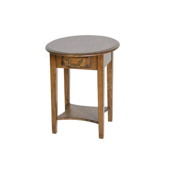 Tyler Burnished Walnut 1-drawer Rounded End Table