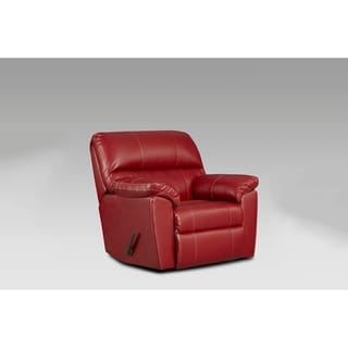 Buckland Austin Red Chaise Rocker Recliner
