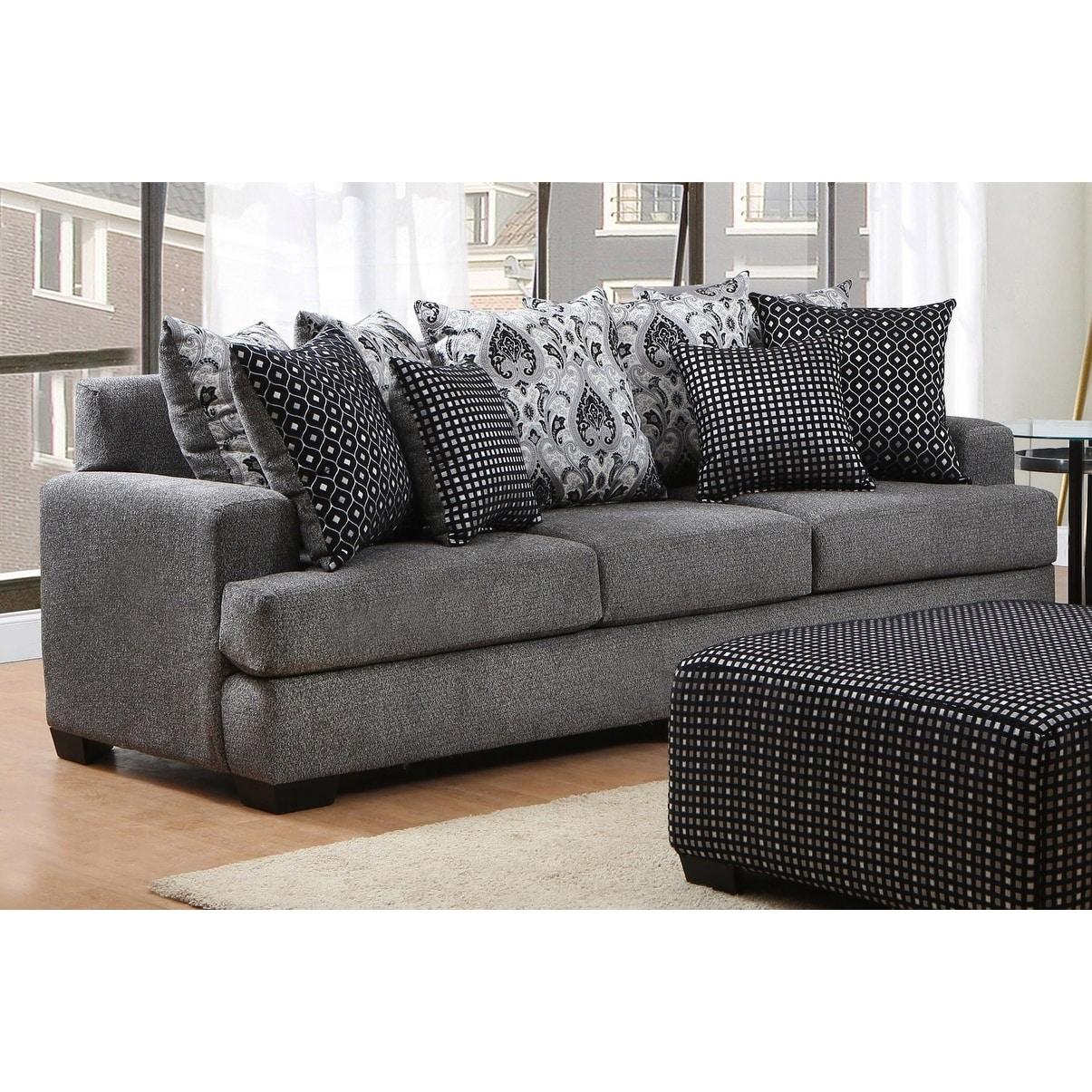 Cook Pathfinder Onyx Pillow Back Sofa