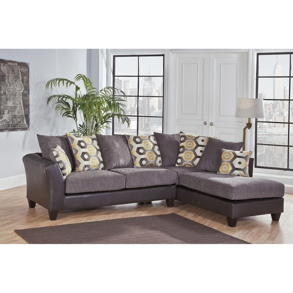 Zeta Dempsey Graphite L-shape Sectional