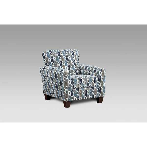 Genial Shop Weaver Cube Blue And Grey Accent Chair   Free Shipping Today    Overstock   26856677