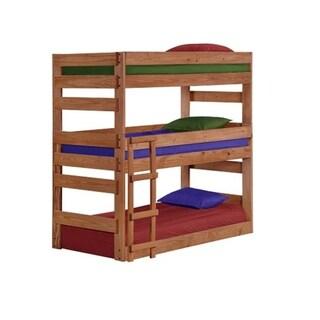Mahogany Hill Mahogany Stain Twin Triple Bunk Bed