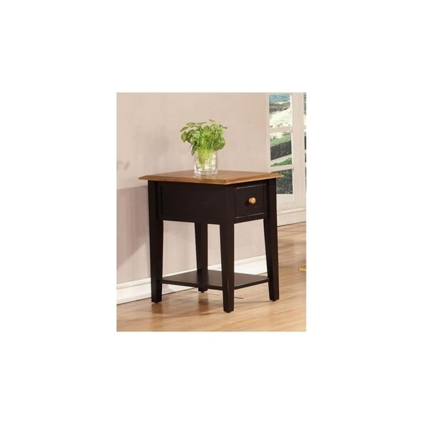 Tempest Harvest and Black 1-drawer End Table
