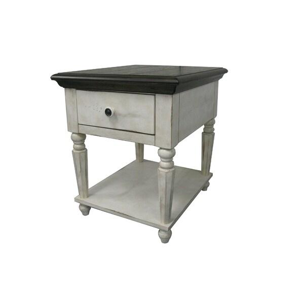 Marlee Vintage States 1-drawer End Table