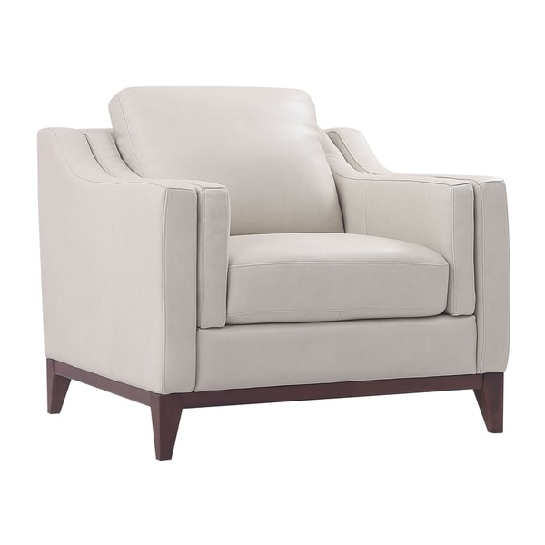 Shop Lydia Top Grain Leather Club Chair Free Shipping