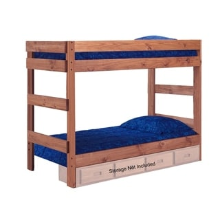 Mahogany Hill Mahogany Stain Twin over Twin Bunk Bed