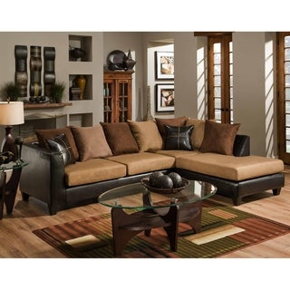Sailor Jefferson Chocolate and Sierra Camel Sectional