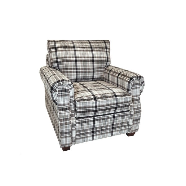 Shop Denver Plaid Fabric Arm Chair - Free Shipping Today - - 26856749 ef4dbeee8a89