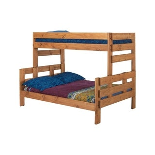 Ginger Stain Twin over Full Stackable Bunk Bed