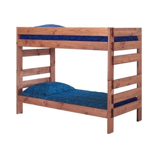 Mahogany Hill Mahogany Stain Twin over Twin Stackable Bunk Bed
