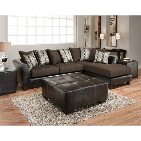 Zeta Jefferson Chocolate and Rip Sable 2-piece Sectional