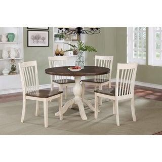 Maureen Walnut and Antique White 5-piece Dining Set