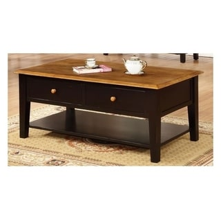 Valentine Harvest and Black 2-drawer Coffee Table