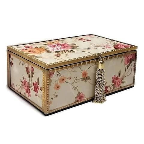 "Jiallo Mandarin Jewelry Box 7 x 4.125"""