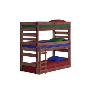 Mahogany Hill Mahogany Stain Twin Triple Extra Long Bunk Bed