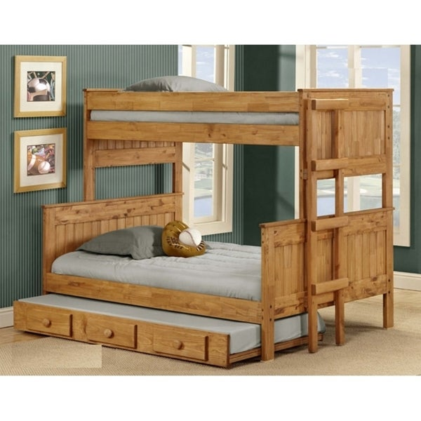 Twin over Full Stackable Bunk Bed with Trundle
