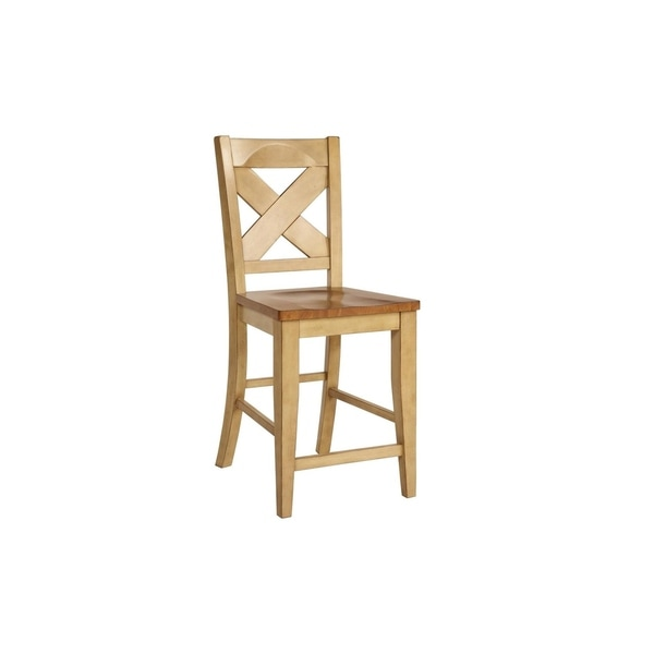 Shop Tyme Two-tone 24-inch Counter Stool