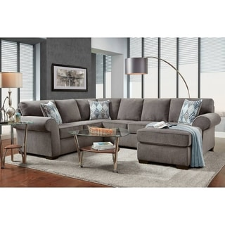 Roosevelt Charisma Smoke 2-piece Chaise Sectional