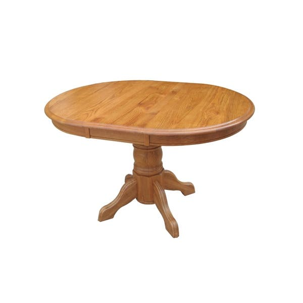 Sandalwood Oak Pedestal Dining Table With Empire Feet