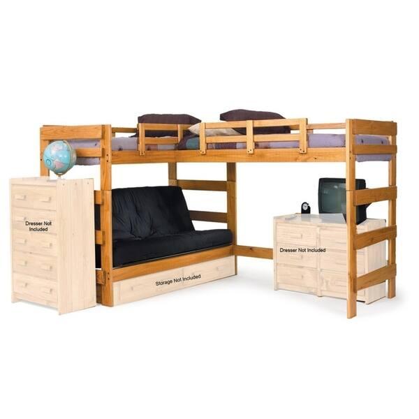 Shop Honey Lane Honey L-shaped Futon Loft Bed - Overstock - 26857146