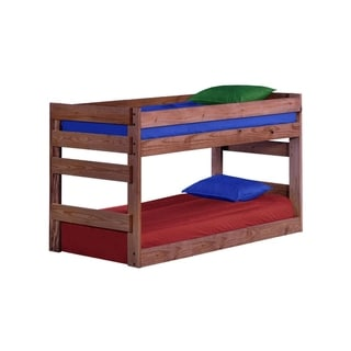 Ginger Stain Twin XL over Twin XL Junior Bunk Bed with Queen Rails