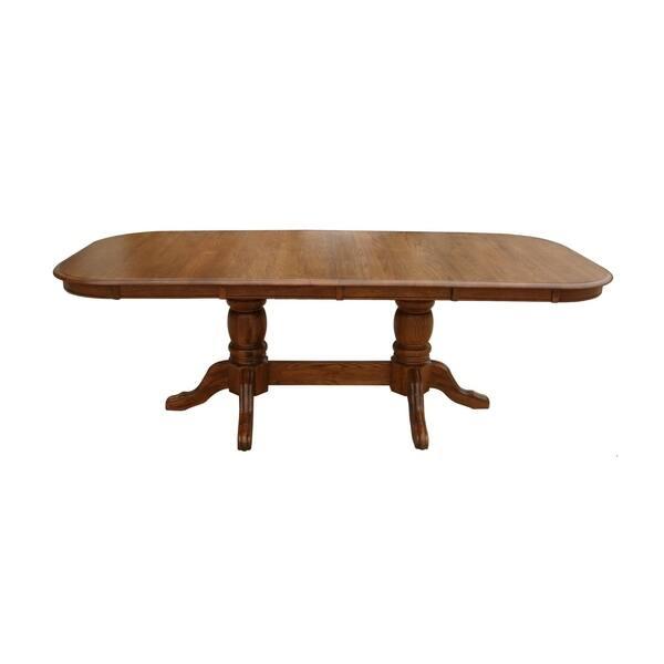 Southernwood Oak Double Pedestal Dining Table