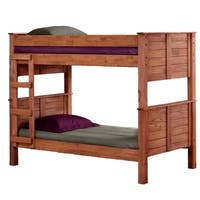 Mahogany Hill Mahogany Stain Twin over Twin Post Bunk Bed