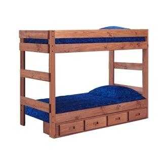 Mahogany Hill Mahogany Stain Bunk Bed with Storage