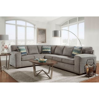 Maximo Silverton Pewter L-shape Sectional