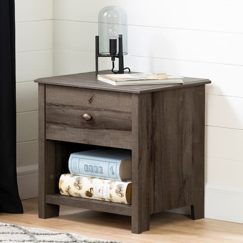 South Shore Vinbardi 1-Drawer Nightstand