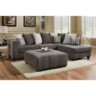 Melinda Bennington Gunmetal L-shape Sectional