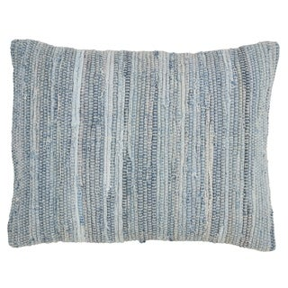 Saro Lifestyle Chindi Design Down-filled Cotton Throw Pillow
