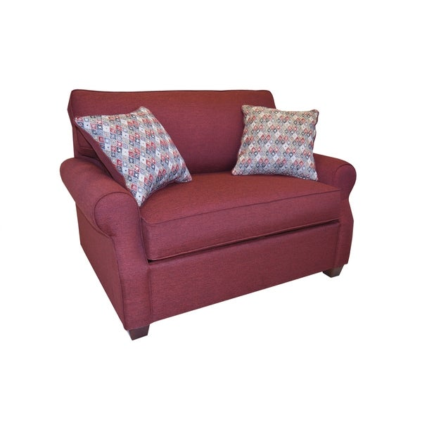 Shop Amara Red Fabric Chair And A Half On Sale Free