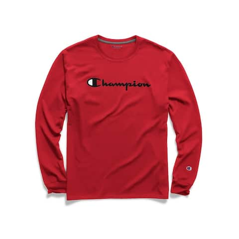 Champion Men's Classic Jersey Graphic L/S Tee