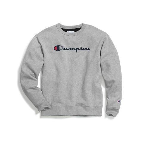 Champion Men's Graphic Powerblend Fleece Crew