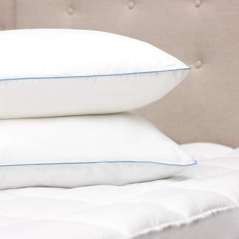 Kotter Home Overstuffed Firm Density Pillow - Set of 2 - White