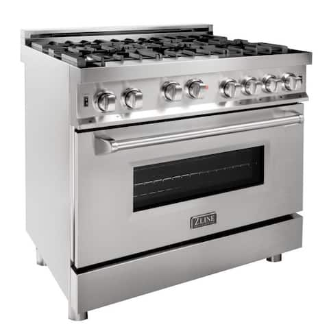 ZLINE 36 in. Professional Gas on Gas Range in Stainless Steel (RG36)