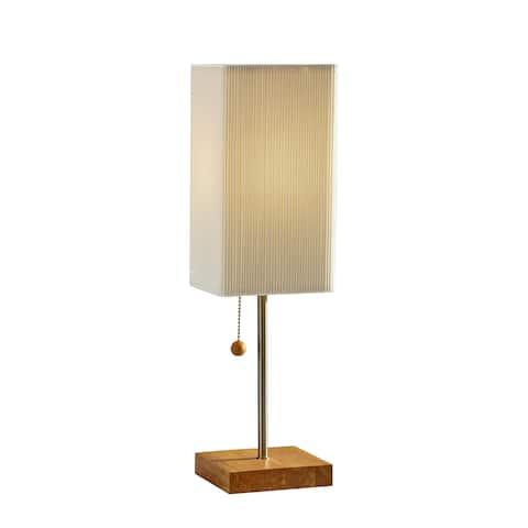 Carson Carrington Riga Natural Oak Table Lamp