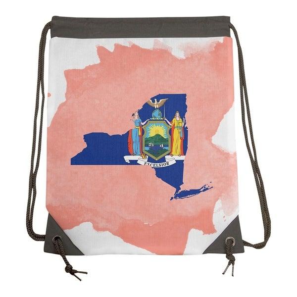 Shop Katelyn Smith New York Flag Watercolor Drawstring Gym Bag - Drawstring Gym  Bag - On Sale - Free Shipping Today - Overstock.com - 26859456 3e4141cf1e9d8