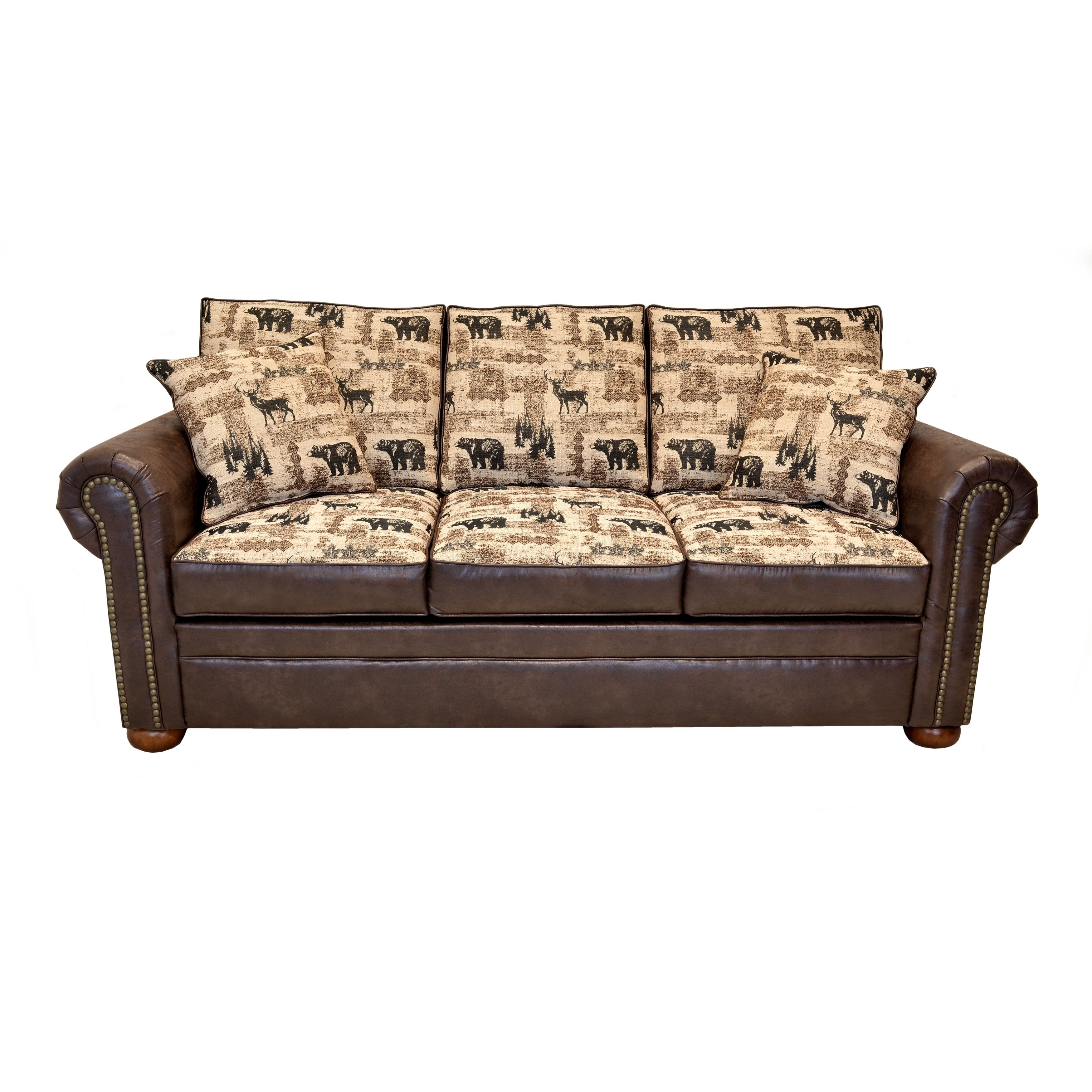 - Shop Redwood Contemporary Lodge Sleeper Sofa (Innerspring/ Memory