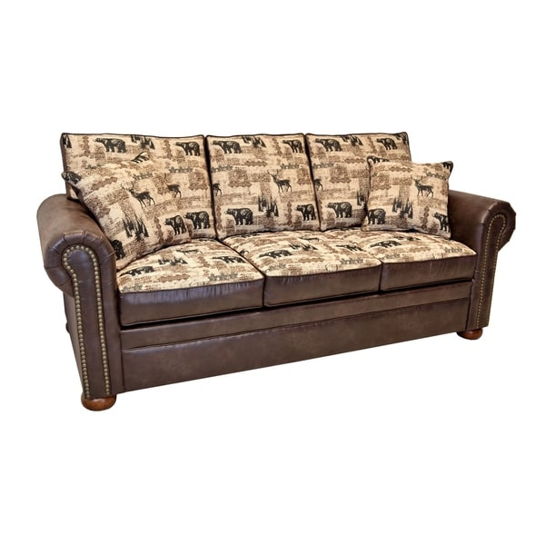 Gentil Shop Redwood Contemporary Lodge Sleeper Sofa (Innerspring/ Memory Foam/  Memory Flex)   Free Shipping Today   Overstock.com   26867575